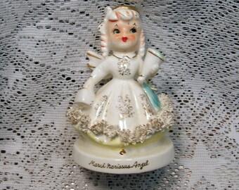 Vintage March Narissus Angel Birthday Spagetti Trim Pretty