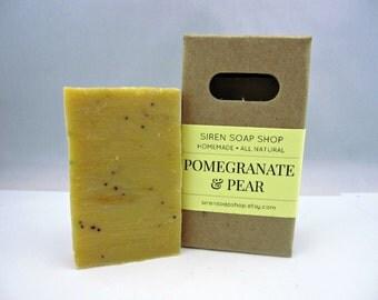Pomegranate & Pear Mini Soap, Vegan Soap, Pomegranate, Pear