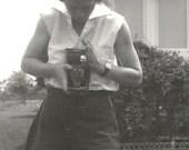 Vintage Camera - Vintage Snapshot - Accordion Camera - Kodak - Vintage Photo - Original Photo