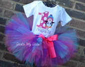 Winter Hat Penguin Themed Winter ONEderland Winter Themed Birthday Tutu Outfit-Penguin Party Tutu Set-First Birthday Penguin Tutu Outfit