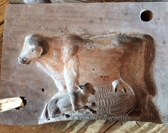 Baroque Wood Butter Cow Mold