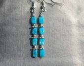 Sleeping Beauty Turquoise Dangle Earrings, Blue Earrings, Turquoise Blessings, Navajo Earrings, Dine Jewelry, Petite Turquoise Earrings