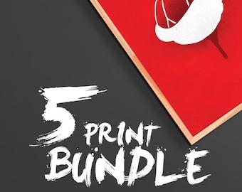 Bundle - Pick 5 Prints