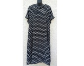OPEN SHOULDER DRESS, Large, Post Op Shoulder Surgery, crinkle cotton fabric, rotator cuff, stroke, Disability clothing, physical disability