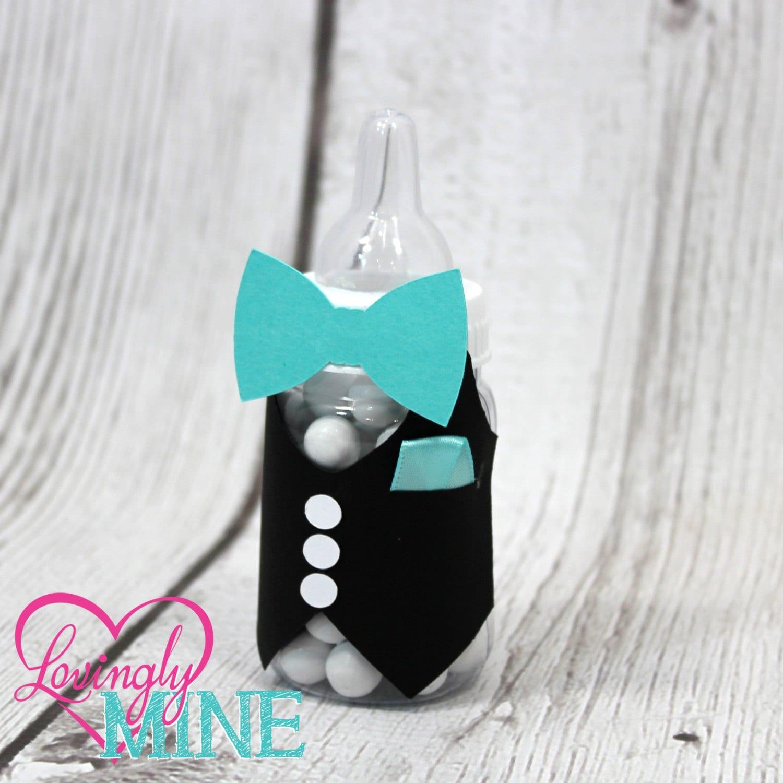 bow tie little man baby shower baby bottles favors by lovinglymine