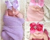 Newborn hat Hospital Hat Newborn baby girl beanie with bow Newborn Hat with bow Coming home outfit Baby Girl hospital hat with bow