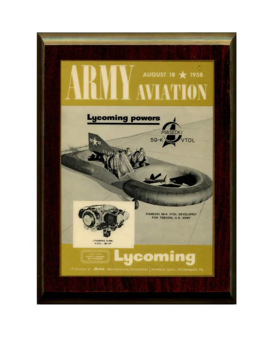 Vintage Aviation Wall Decor : Vintage aviation wall decor art piasecki k vtol