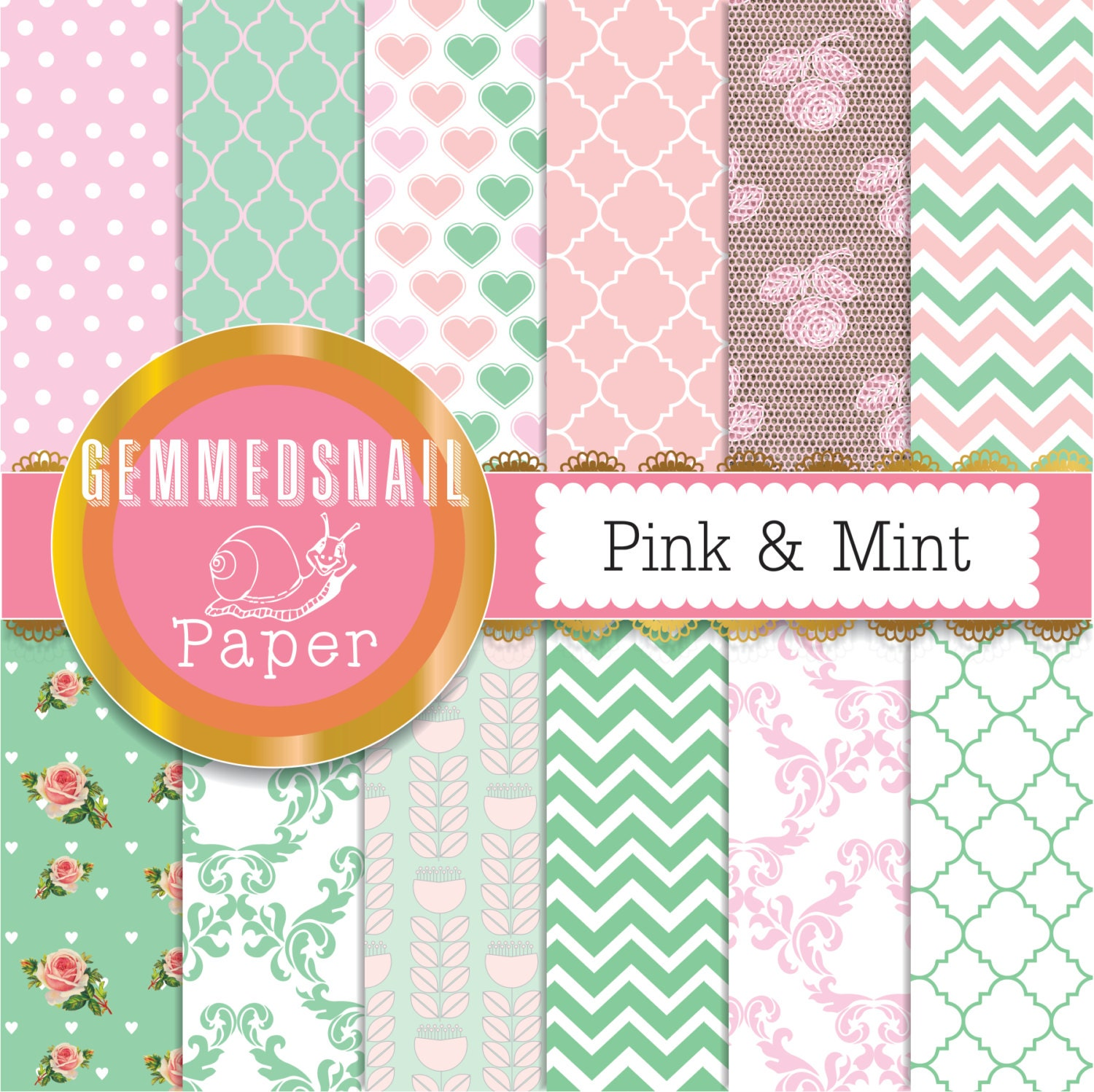 mint and pink wallpaper - photo #40