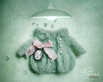 Blythe Jacket LITTLE PRINCESS Romantic Collection By Odd Princess Atelier, Shabby Chic, Hand Knitted, Special Outfit