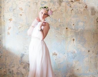 "Florence Skirt - Wedding Skirt - Chiffon Skirt - Wedding Separates - Color Wedding Dress - Blush Wedding Dress - 20"" Train"