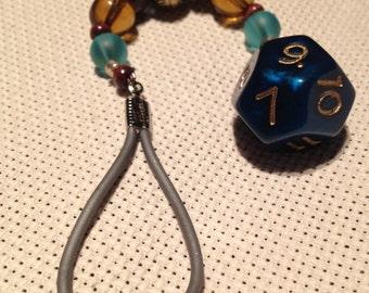 D12 Dice Fob - Pickle & Pear Scissor Fob - Handmade Scissor and Phone Fobs