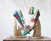 Vintage 80's Palm Tree Sandals Sz 7.5