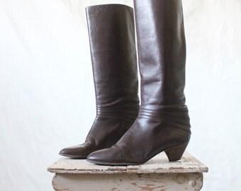 Vintage Hana Mackler Italian Leather Boots - See Details