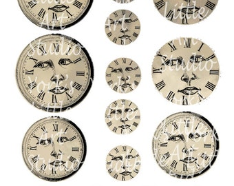 Digital Download 2 Pages of Clock Faces