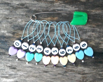 Number stitch markers