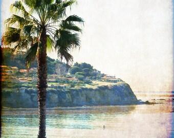 vintage style photography, card Torrance beach Palos Verdes southern california G5941