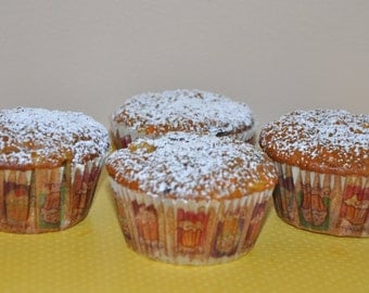 Wheat Free Carrot Orange Muffins  Made to order Awesome Edible Gift 1 dozen