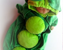 Baby Girl Original Halloween Costume, Original PEA pod Halloween costume, 3 month 6 month baby girl costume, One Of A Kind original Costume