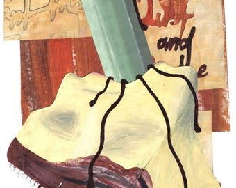 Choke - MACABRE Horror ART - Original Painting - Pencil - Classic -