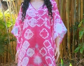 Hand Dyed Silk Kaftan, Cover up, Silkz Design Caftan