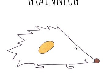 Grainneog, Hedgehog, Grand Yoke, Irish Gaelic Art, Fine Art Print, Wall Art Home Decor, Whimsical Art, Poster Art Print, Gift for Women girl
