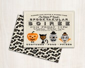 Spooky Soiree Halloween Invitation - Hipster Halloween Party  - Printable Party Supplies