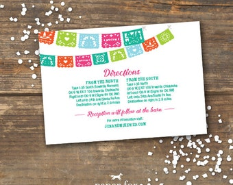 Fiesta Wedding Information Card Printable