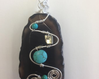 Spiral wrapped necklace