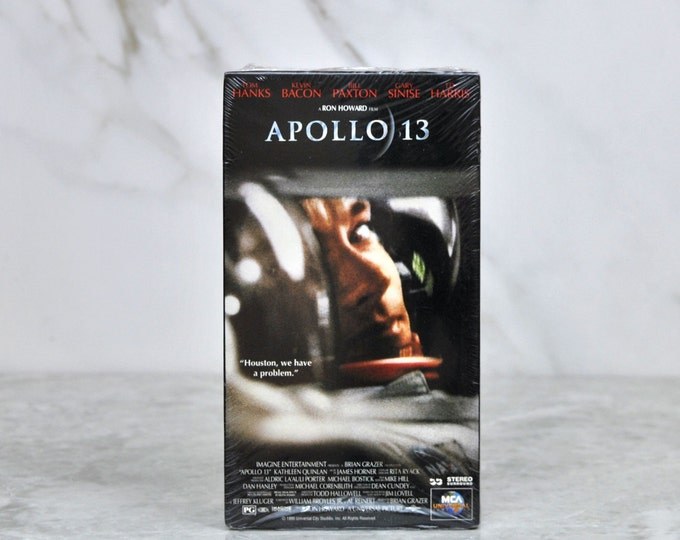 Vintage VHS Tape Apollo 13 1995  - Space Travel - Astronauts - Tom Hanks - Bill Paxton - Kevin Bacon - Gary Sinise - Kathleen Quinlan