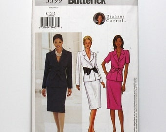 Uncut Sewing Pattern, Skirt Suit, Ladies Jacket and Skirt, Butterick 3399, Diahann Carroll, Classic Fashion, Sizes 8, 10, 12