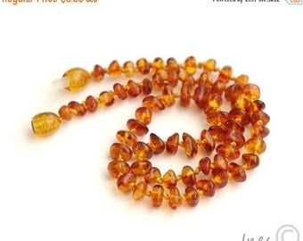 15% OFF THRU OCT Baltic Amber Baby Teething Necklace Honey Color Beads