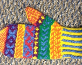 Brightly-Colored Mittens