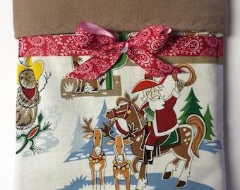 Christmas baby blanket, western blanket,  cowboy christmas, santa blanket, new baby gifts,, Custom blanket, babys first christmas boy geeky
