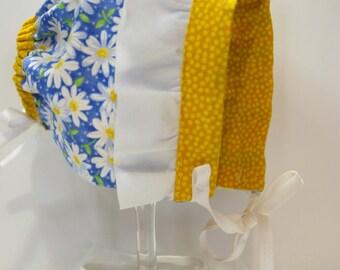 Baby Bonnets - Daisy Sun Bonnet - Old Fashioned Bonnets - Sun Hats - Easter Bonnets - Fancy Baby Bonnets - Ruffled Bonnets - Lace Bonnets