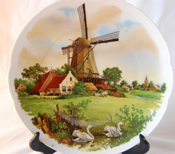 Items Similar To Vintage Royal Schwabap Holland Windmill