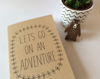 Lets Go On An Adventure A6 Plain Notebook