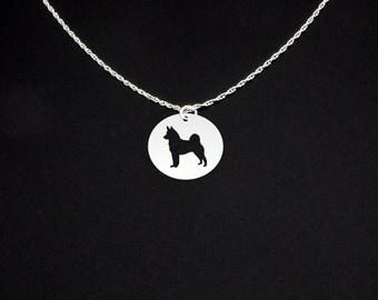Norwegian Elkhound Necklace - Norwegian Elkhound Jewelry - Norwegian Elkhound Gift