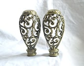Big Pair of Fancy Finials for Drapery Poles or Holdbacks or for Lamps