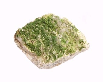 Green Pyromorphite Large Display Mineral Specimen Druzy Crystals or Quartz Rock, Vintage Geology Sample mined in Pennsylvania, Earth Science