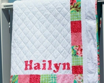Baby Name Quilt Custom Made