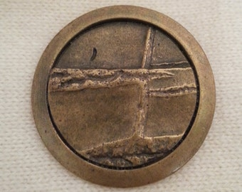Bronze tone button, industrial, metal, vintage, Large  - 30mm and 35mm