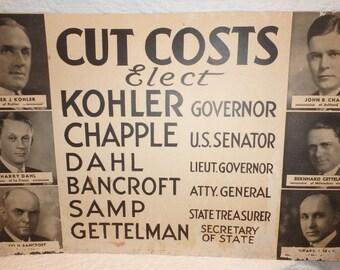 Republican Political Poster Wisconsin Election