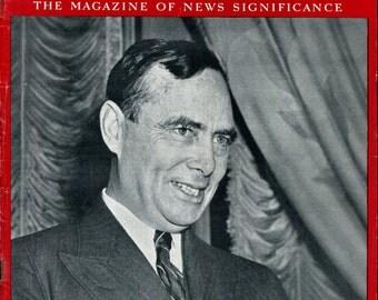 Newsweek August 14 1939 Joe Martin Congress US American History Birthday Birth Date Gift Full Issue Vintage Magazine