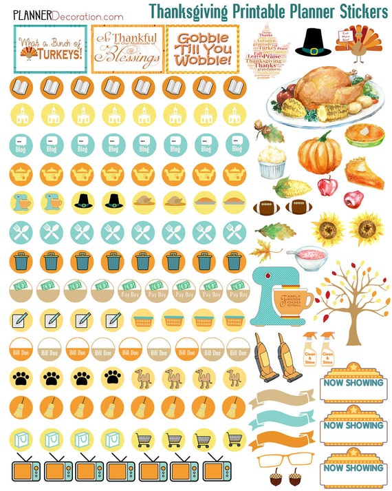 Canny image inside free printable food planner stickers