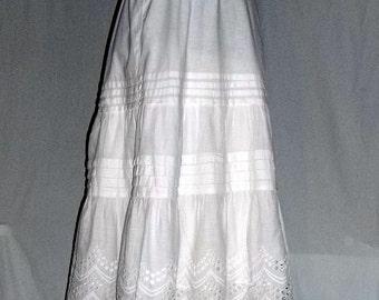 Vintage White Eyelet Petticoat, Ca1950s