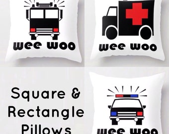 Wee Woo Police Car Firetruck Ambulance Throw Pillow / Cover - Indoors Outdoors  sc 1 st  Etsy & Thin Blue Line Throw Pillow / Cover Indoors and Outdoors azcodes.com