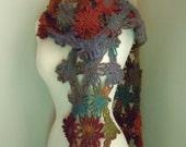 Flower scarf - Auburn