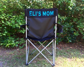 Monogrammed Chairs, Monogrammed Soccer Mom Chair, Groomsman gifts, Wedding gift, Coach's chair, Personalized Folding Chair, Camp Chair