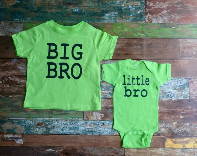 Big Brother Little Brother Matching Shirt and Bodysuit, Brother Shirts, Big Brother Shirt, Little Brother Shirt, New Baby, Baby Shower gifts