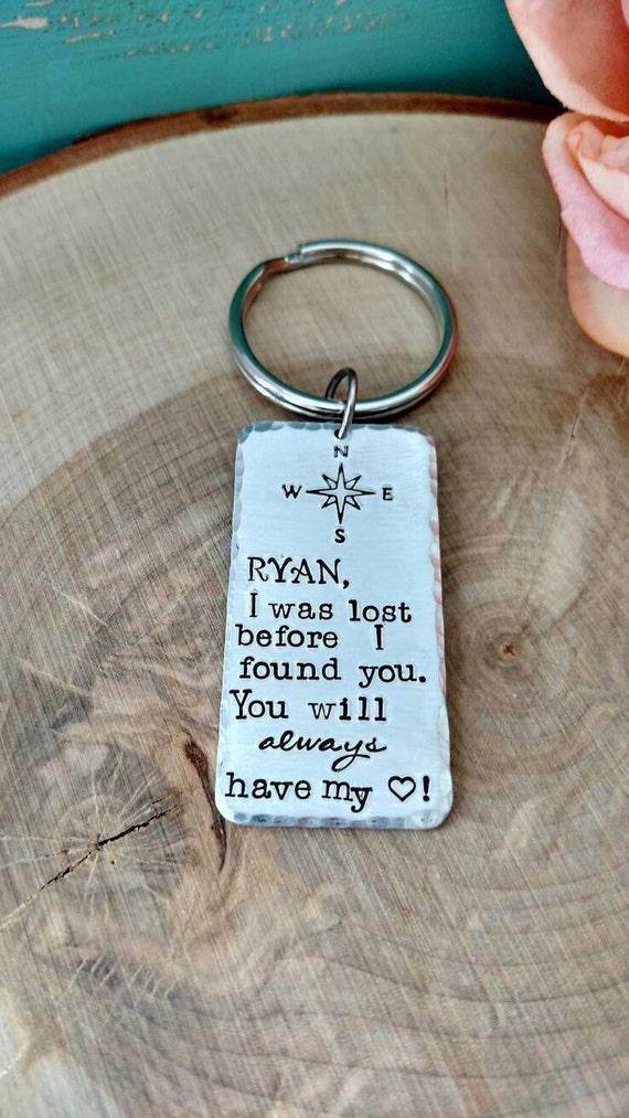 Keychain For Wedding Gift : Keychain for husband, Keychain for boyfriend, wedding gift for husband ...
